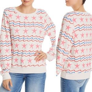 Wildfox Sea Stars & Stripes Baggy Pullover NWT